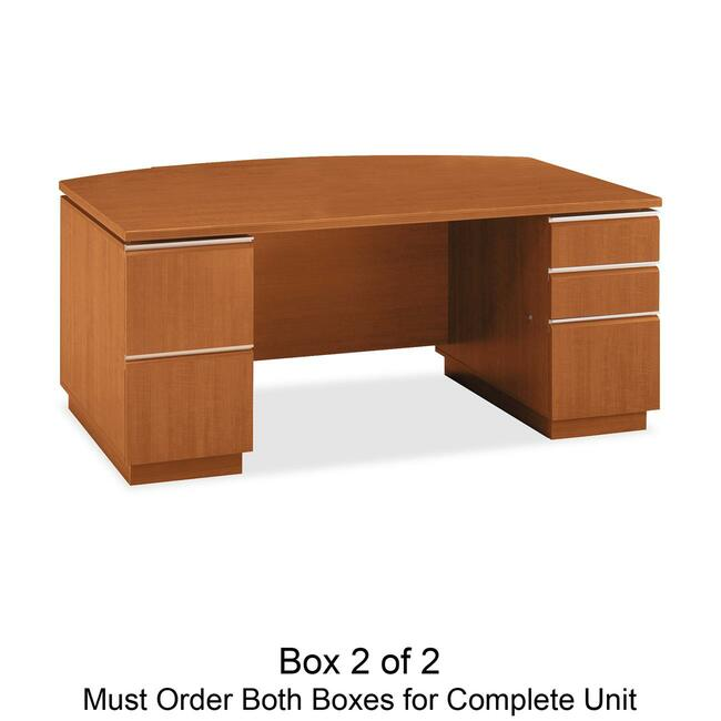 bbf Milano 2 Series Bow Front Pedestal Desk Box 2 of 2