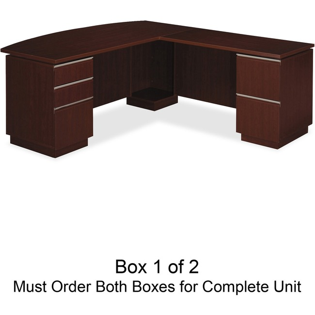 bbf Milano 2 Series Right L Desk Box 1 of 2