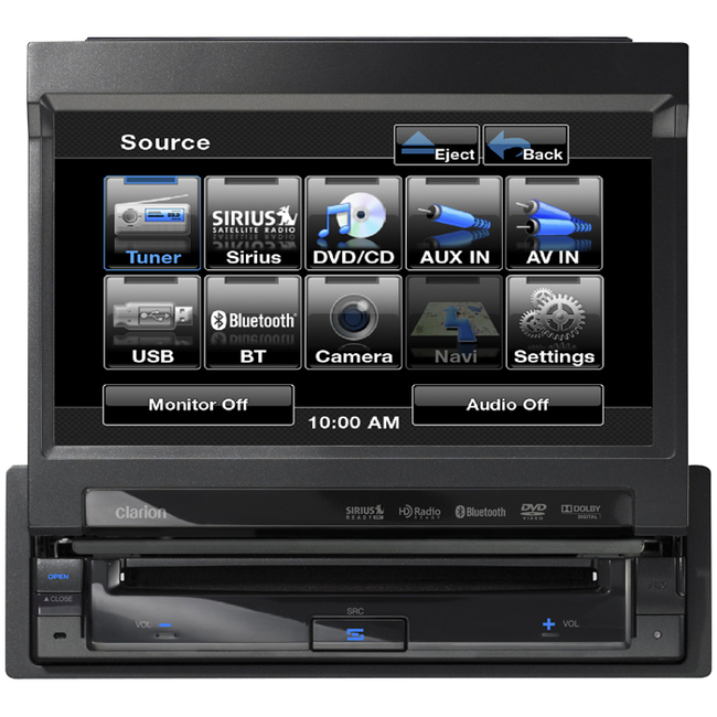 "Clarion VZ401 Car DVD Player - 7"" LCD - 80 W RMS - Single DIN"
