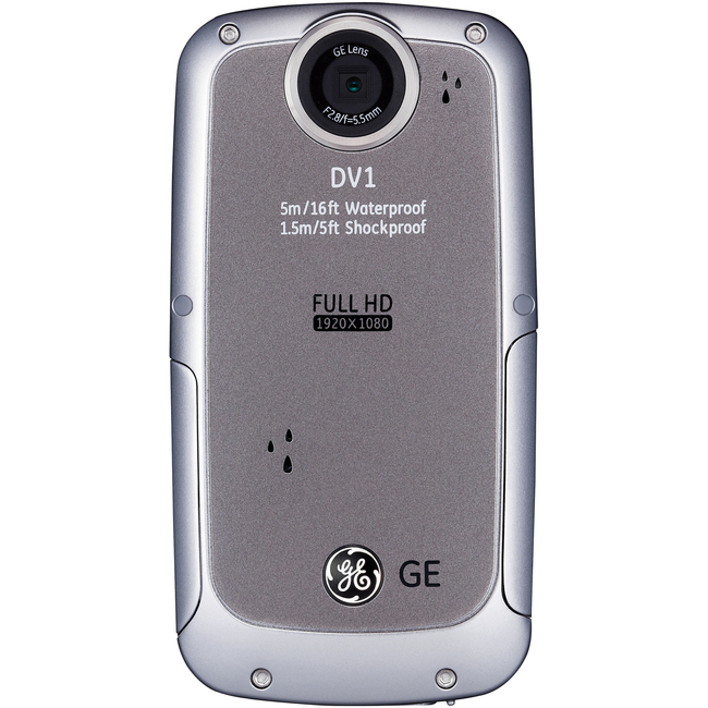"GE DV1 Digital Camcorder - 2.5"" LCD - Full HD - Graphite Gray"