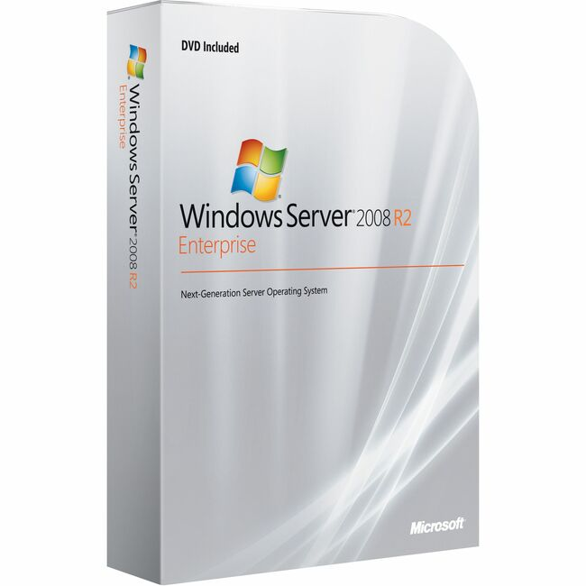 Microsoft Windows Server 2008 R.2 Enterprise With Service Pack 1 64-bit - License and Media - 10 CAL, 1 Server, 8 CPU