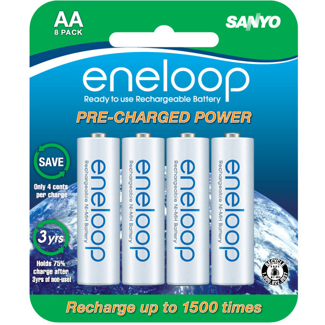 Sanyo eneloop SEC-HR3U8BPN General Purpose Battery