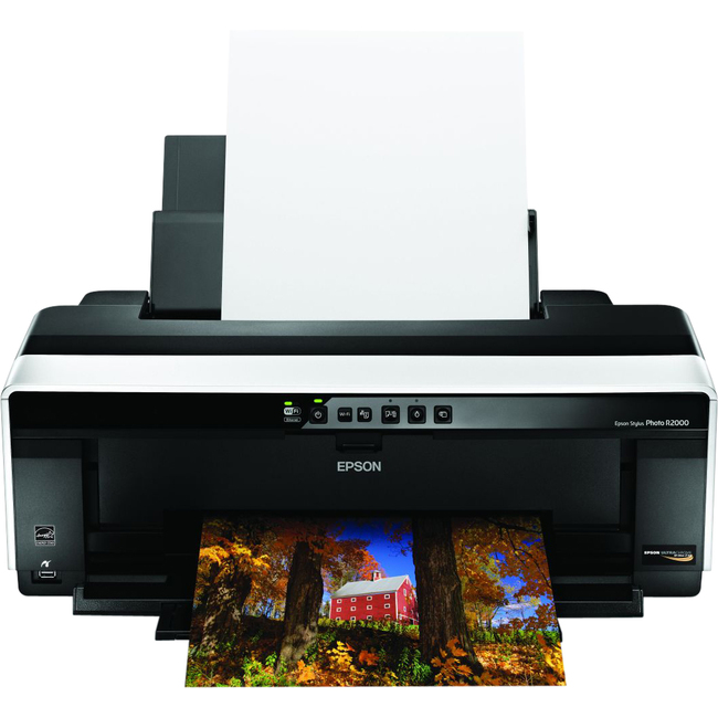 Epson Stylus Photo R2000 Inkjet Printer - Color - 5760 x 1440 dpi Print - Photo/Disc Print - Desktop