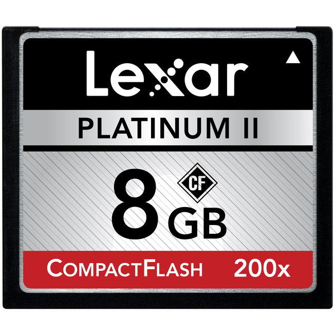 Lexar Media Platinum II LCF8GBBSBNA2002 8 GB CompactFlash (CF) Card - 2 Card/2 Pack