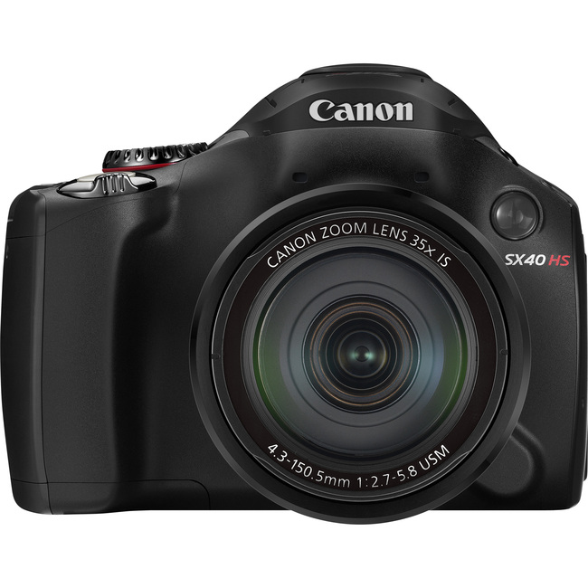 Canon PowerShot SX40 HS 12.1 Megapixel Bridge Camera - Black