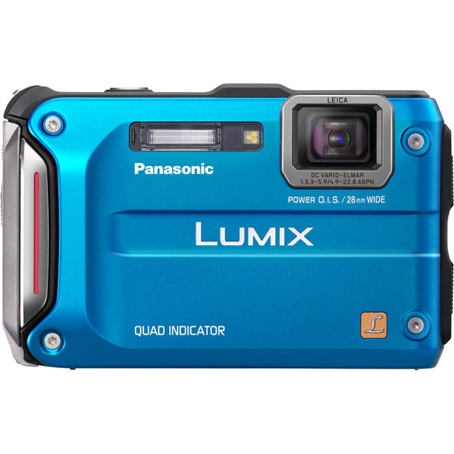 Panasonic Lumix DMC-TS4 12.1 Megapixel Compact Camera - Blue