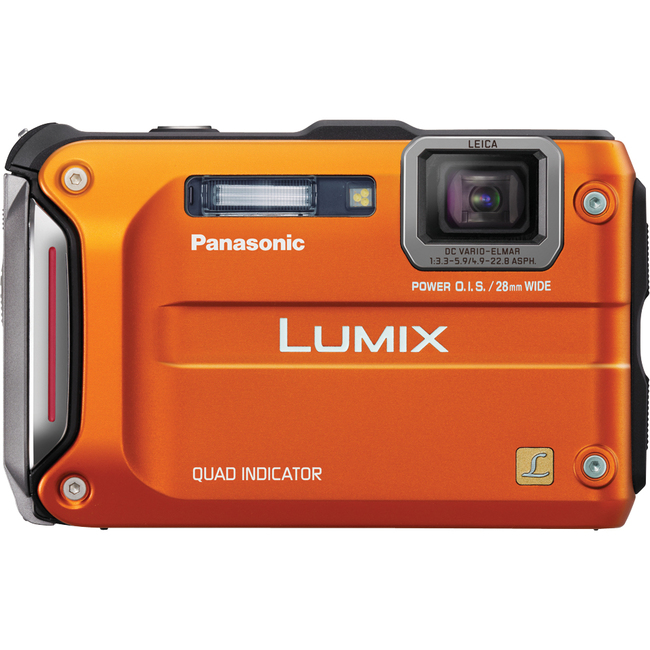 Panasonic Lumix DMC-TS4 12.1 Megapixel Compact Camera - Orange