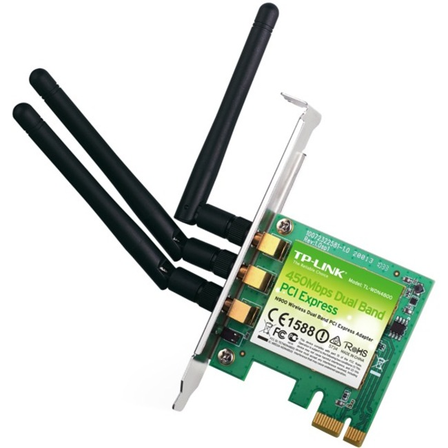 TP-LINK N900 TL-WDN4800, 450Mbps Wireless N Dual Band PCI Express Adapter