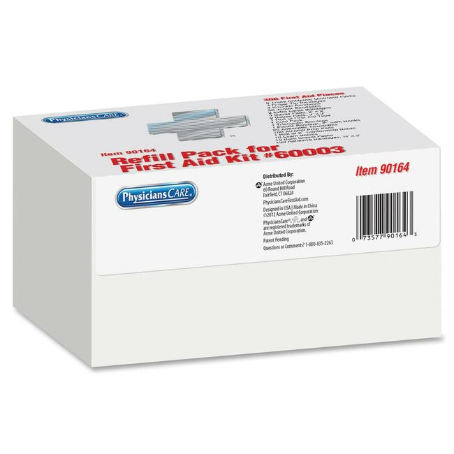 ACM90164 Physicianscare First Aid Kit Refill, Contains 307 Pieces