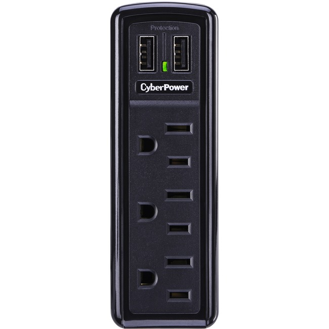 CYBER POWER SYSTEM - DT SB CSP300WU 3OUT UL1449 918J 2XUSB CHARGER FLIP OUT PLUG