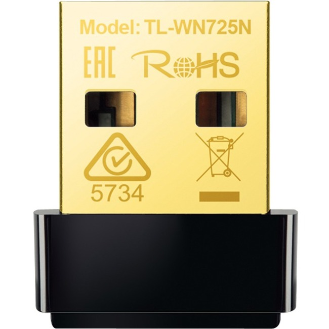 TP-LINK TL-WN725N Wireless N Nano USB Adapter, 150Mbps, Miniature Design, Plug in and Forget, Support Windows