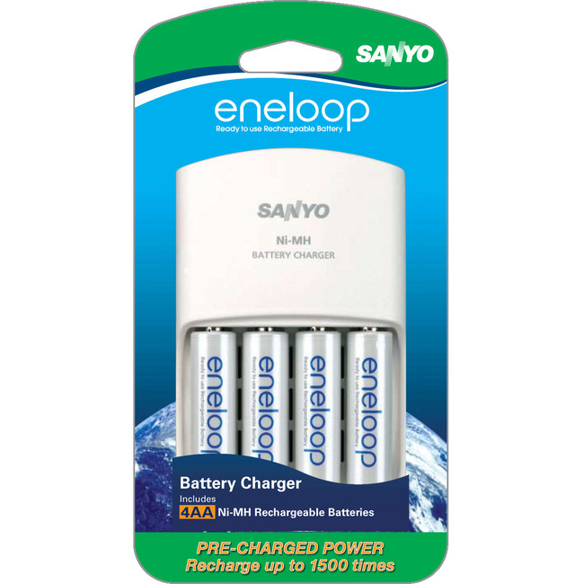 Sanyo AA 4-Pack with AC Charger