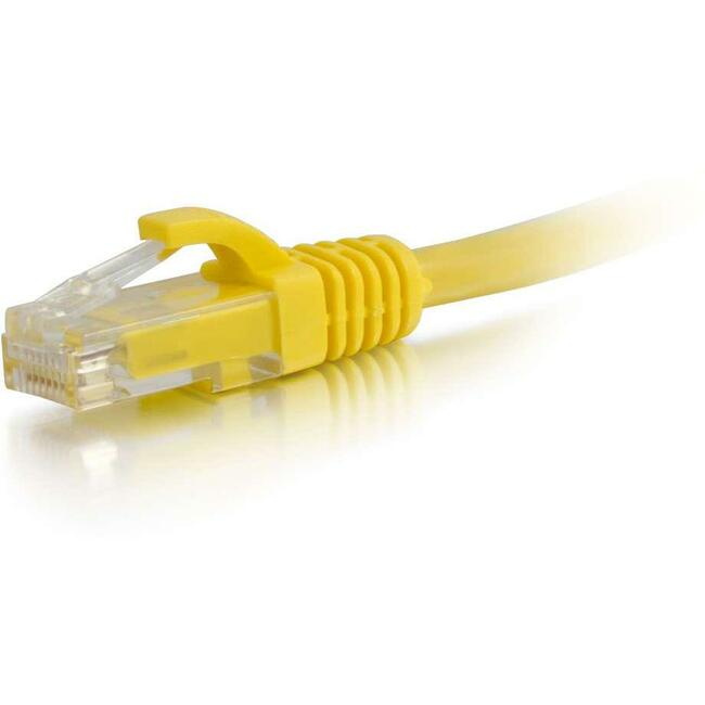 C2G 20FT CAT6 YELLOW SNAGLESS PATCH CABLE