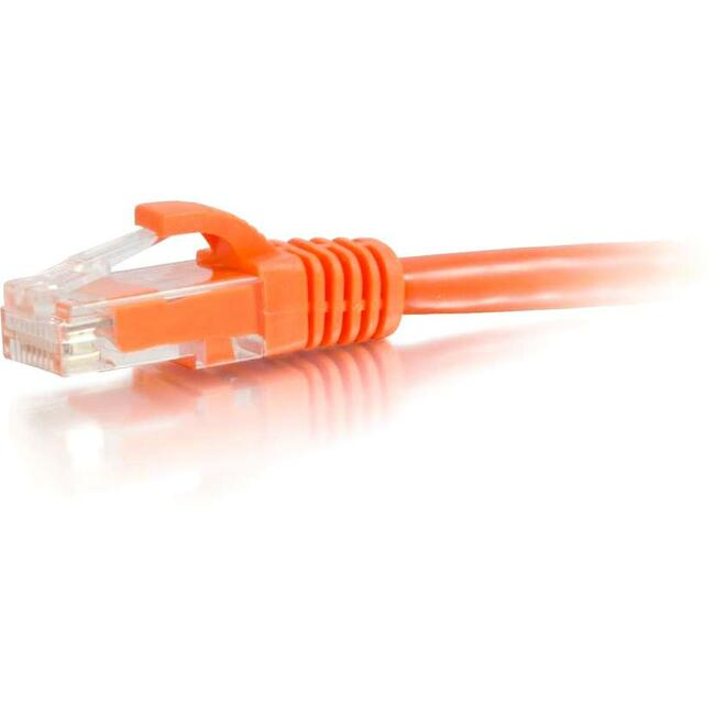 C2G 2FT CAT5E ORANGE SNAGLESS PATCH CABLE