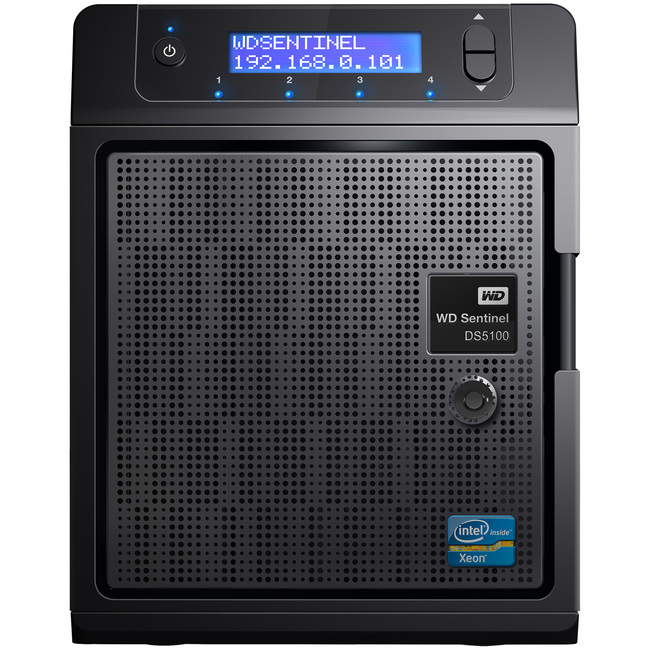 WD Sentinel DS5100 8TB Ultra-compact Storage Plus Server (WDBYVE0080KBK-NESN)