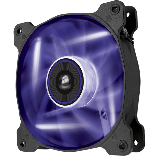 Corsair Air Series AF120 LED Purple Quiet Edition 120 mm x 25 mm, 3 pin, Single Pack (CO-9050015-PLED)