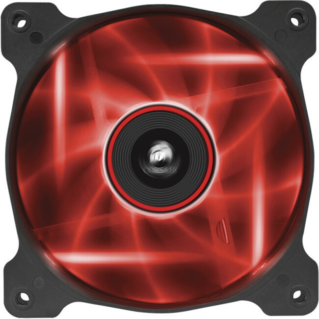 Corsair Air Series AF120 LED Red Quiet Edition 120 mm x 25 mm, 3 pin, Twin Pack (CO-9050016-RLED)
