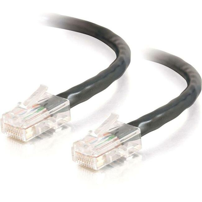 25ft Cat5e Non-Booted Crossover Unshielded (UTP) Network Patch Cable | Black