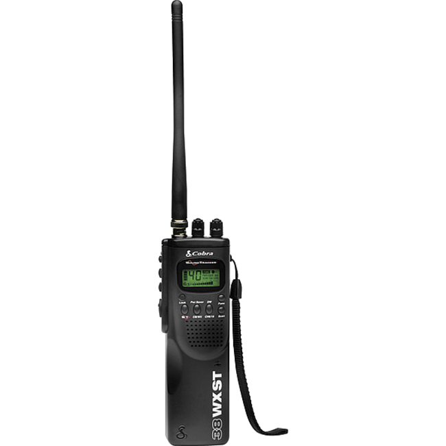 Cobra HH 38 WX ST Hand Held CB Radio with Weather &amp; SoundTracker