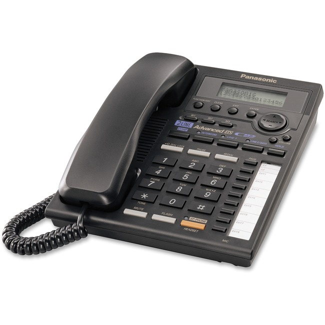 Panasonic KX-TS3282B Standard Phone - Black