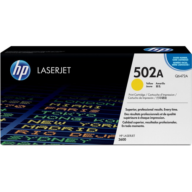 HP 502A (Q6472A) Yellow Original LaserJet Toner Cartridge