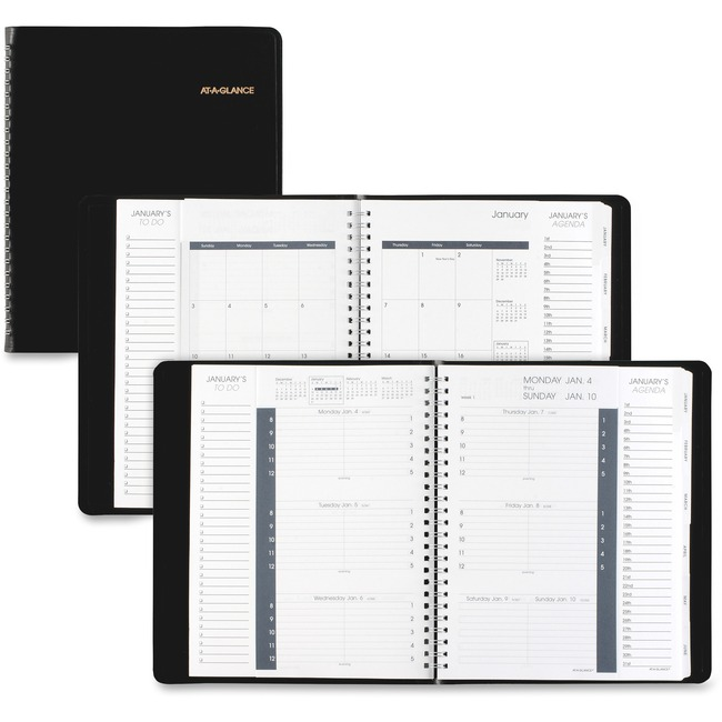 At-A-Glance Weekly and Monthly Triple View Appointment Book