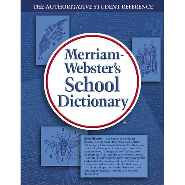 Merriam-Webster Laminated Hardcover - Blue DictionaryDictionary Printed Book