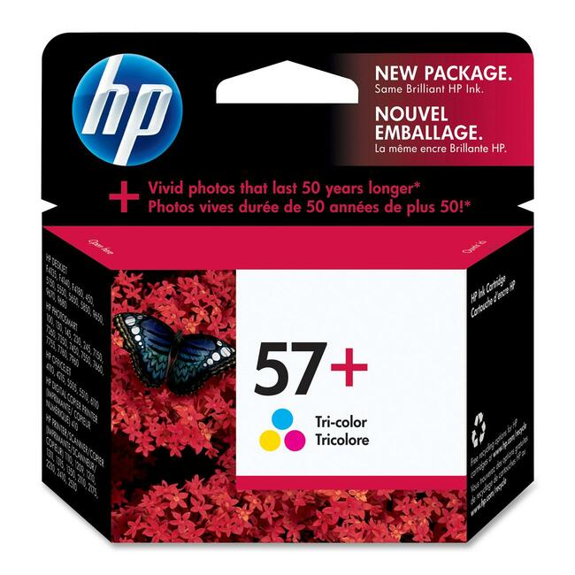 HP 57 Plus Tri-Color Ink Cartridge