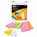 Post-it Super Sticky 2900M9 Removable Label Pads, Asst Sizes/Colors, 6 Pads/Pack, 225/Pack MMM2900M9 MMM 2900M9