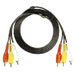 Audiovox Basic VH914N Stereo Audio/Video Cable - 12 ft - 3 x RCA Male Audio/Video - 3 x RCA Male Audio/Video - Black