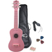 PylePro Soprano Ukulele Mini Guitar Starter Package All Ages - Pink