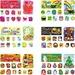 Carson Dellosa 110180 Bulletin Board Set, Holidays, 8-1/2'' x 11'', 72/PK, Multi, CDP110180, CDP 110180