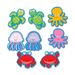 Carson Dellosa 120075 Die-Cut Shapes, ''Sea Life'', 36/PK, Multi-Color, CDP120075, CDP 120075