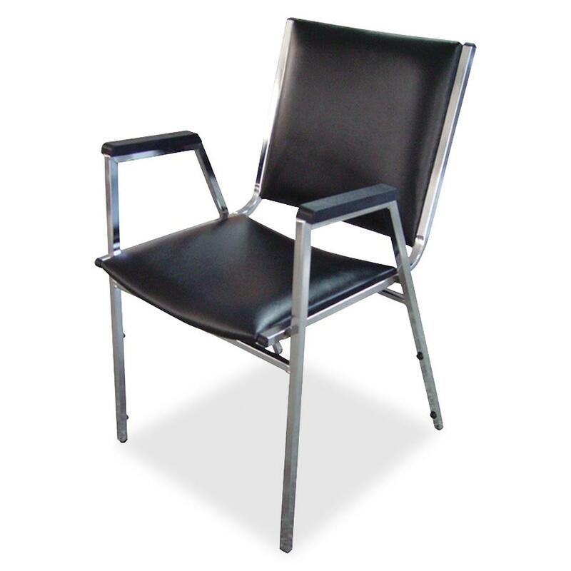Lorell Plastic Arm Stacking Chair