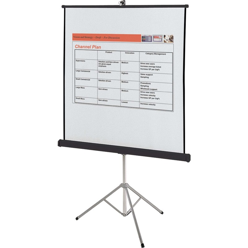 Quartet Manual Projection Screen - 1:1 - Surface Mount