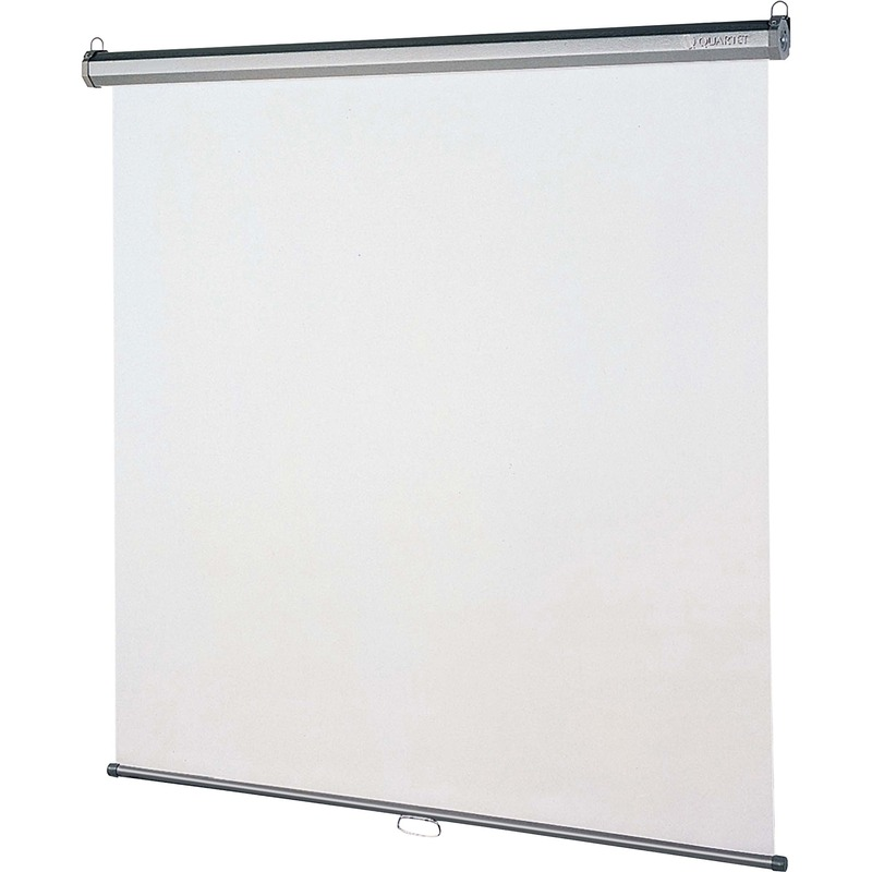 Quartet Manual Projection Screen - 1:1 - Wall Mount, Ceiling Mount