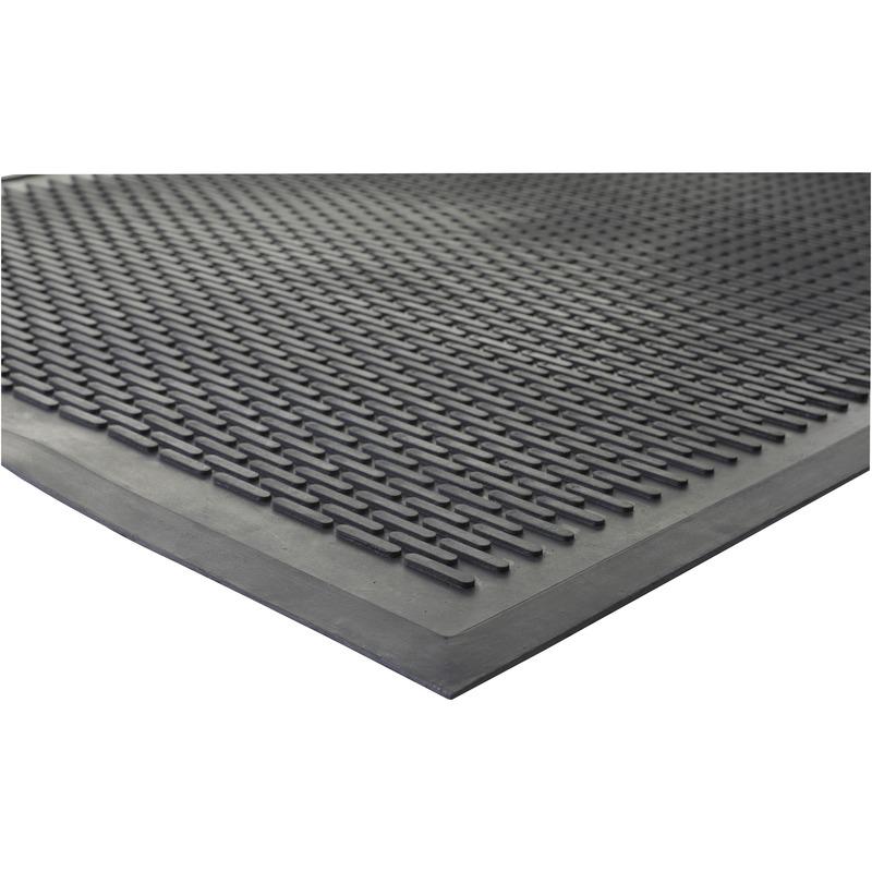 Genuine Joe Outdoor Clean Step Scraper Mat