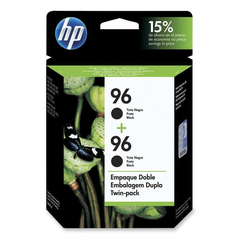 HP 96 Twin Pack Black Ink Cartridge