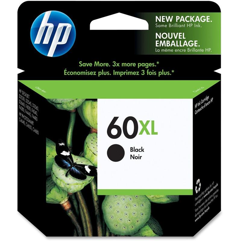 HP 60XL High Capacity Black Ink Cartridge