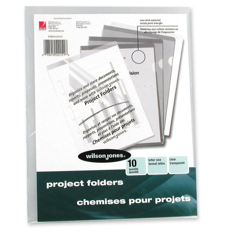 Wilson Jones Pocket Folders