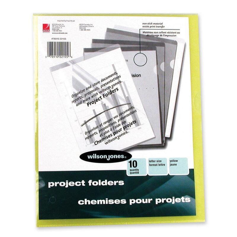 Wilson Jones Vinyl Pocket Folder