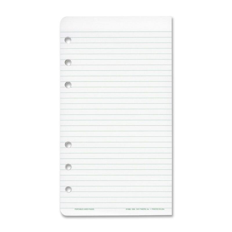 day timer multipurpose lined organizer pages