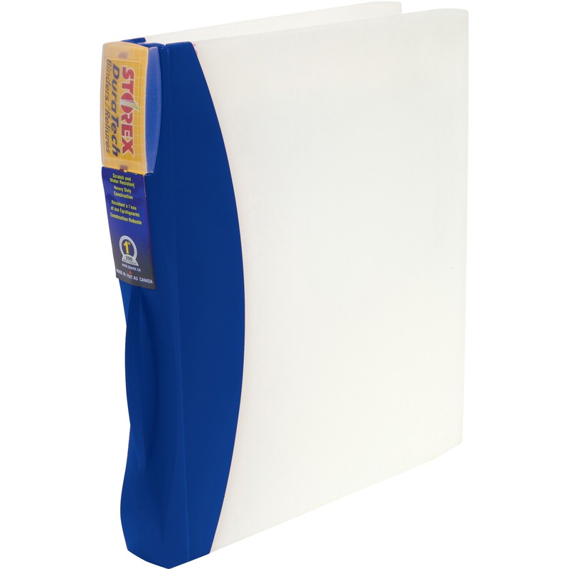 Storex Duratech Frosted Poly Ring Binder