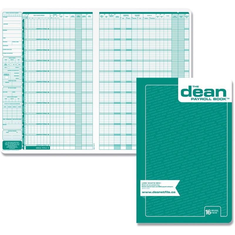 Dean & Fils Sixteen Employees Payroll Book