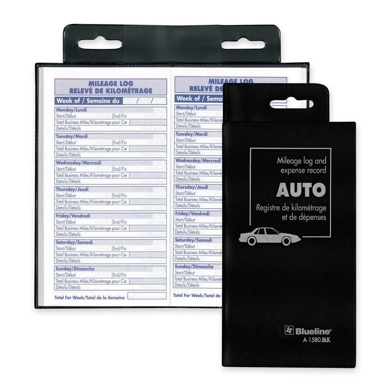 Blueline Bilingual Auto Record Book