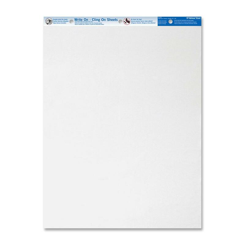 Blueline Write On Cling Easel Pad