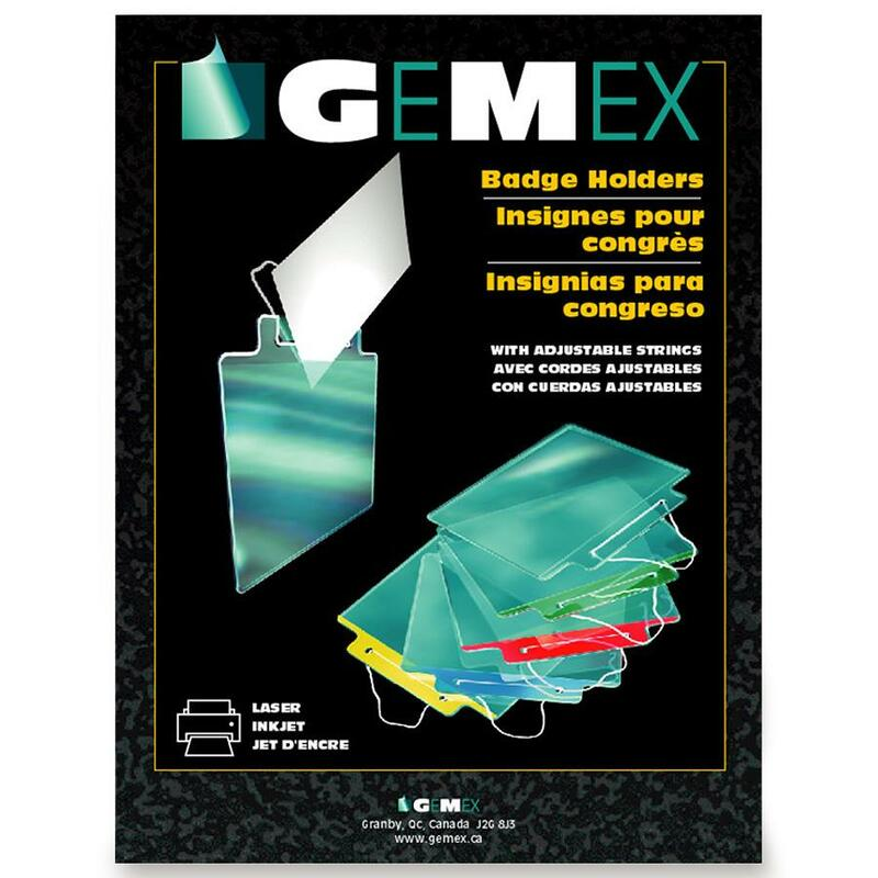 Gemex Color Coded Badge Holder with Adjustable String