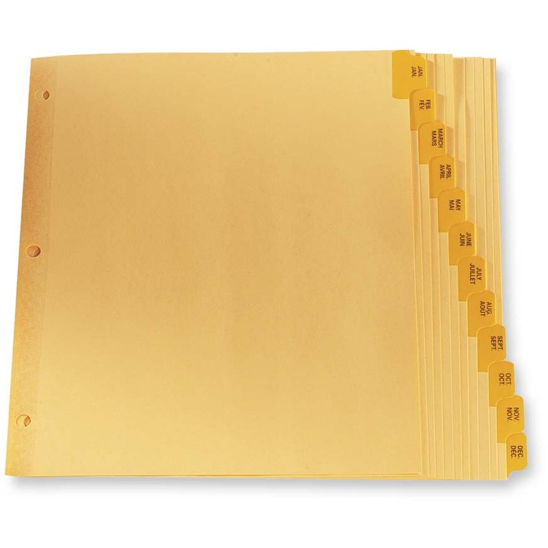 Oxford Preprinted Tab Index Divider