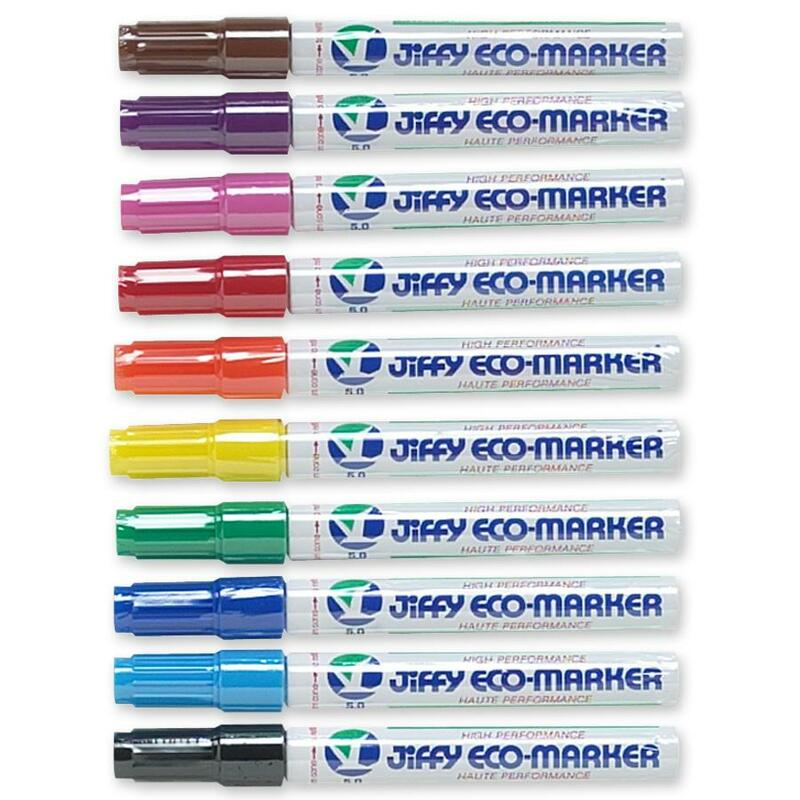 Jiffco Permanent ECO Giant Refillable Markers