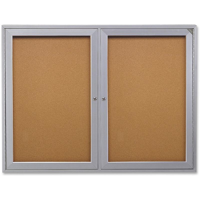 Ghent 2-Door Indoor Enclosed Bulletin Board